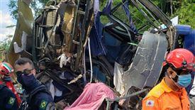 billede af den forulykkede bus