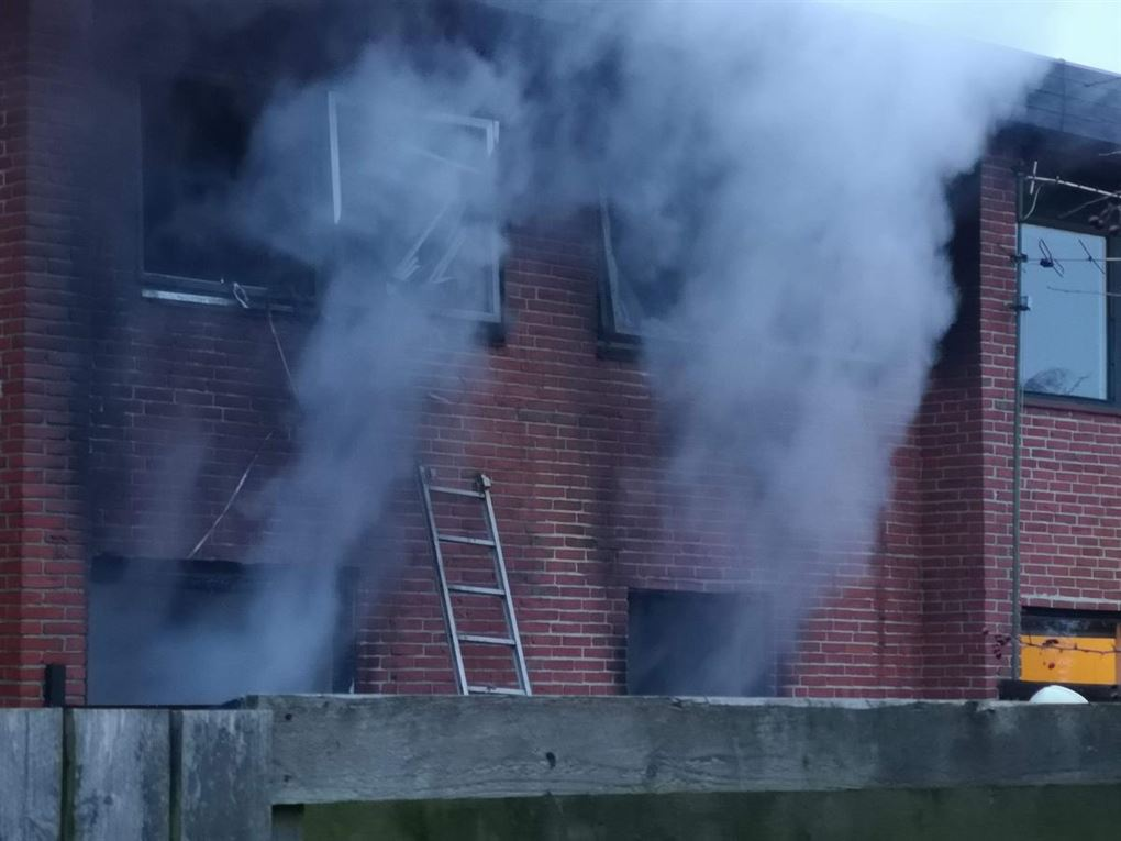 Et brændende hus