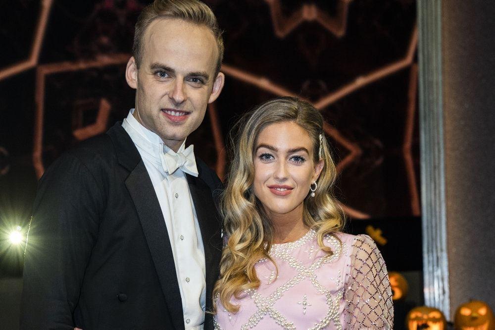 Mads Vad samen med dansepartneren Emilie Sindlev
