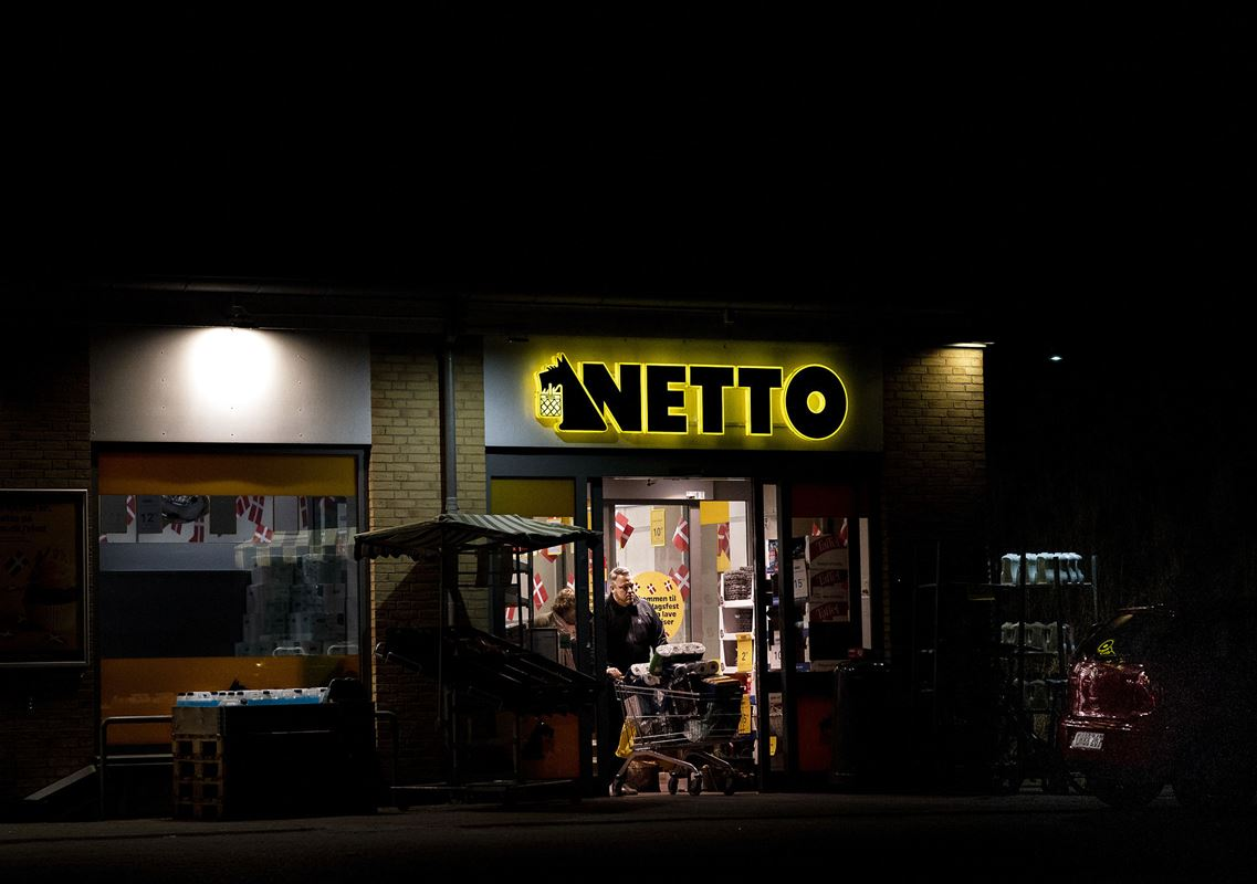 Indgang til Netto-butik