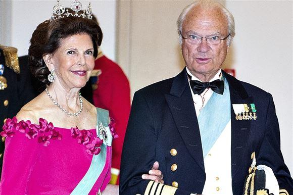 billede af kong Carl Gustaf og dronning Silvia
