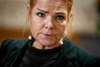 Inger Støjberg med sammenbidt udtryk