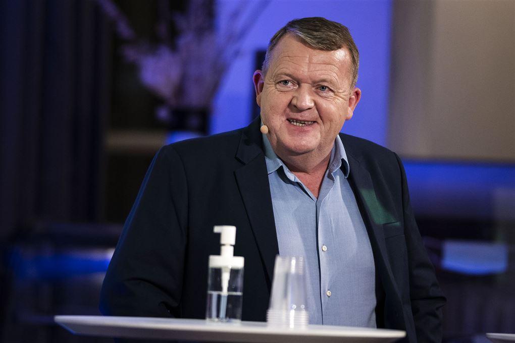 Lars Løkke på talerstolen