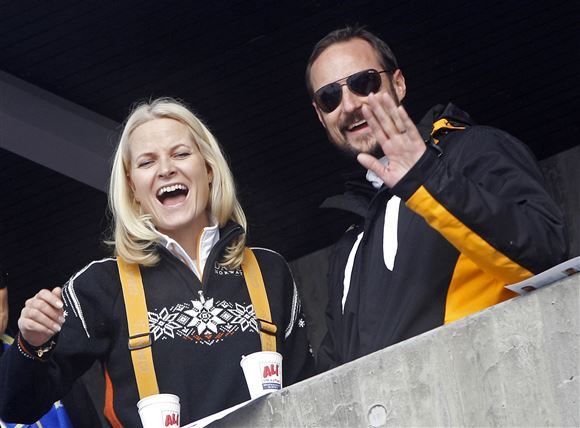 Mette-Marit og kronprins Haakon