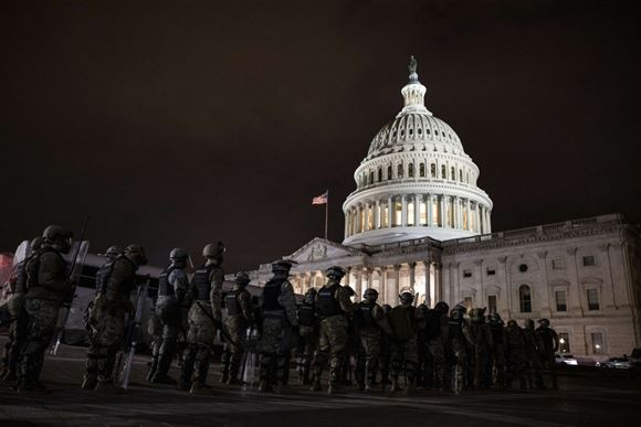 nationalgarden foran den amerikanske kongres