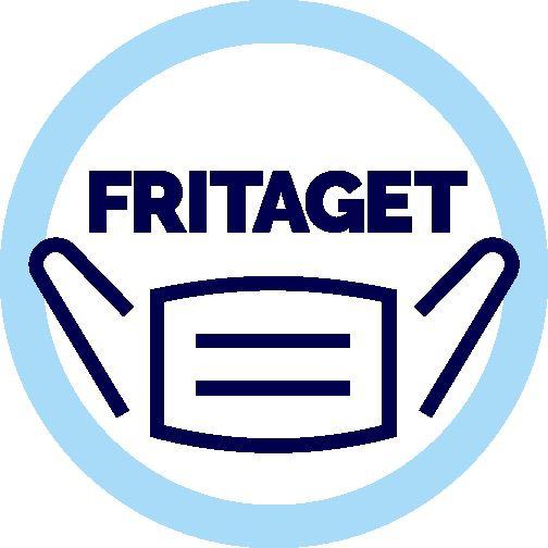 """illustration af badge med teksten """"fritaget"""""""
