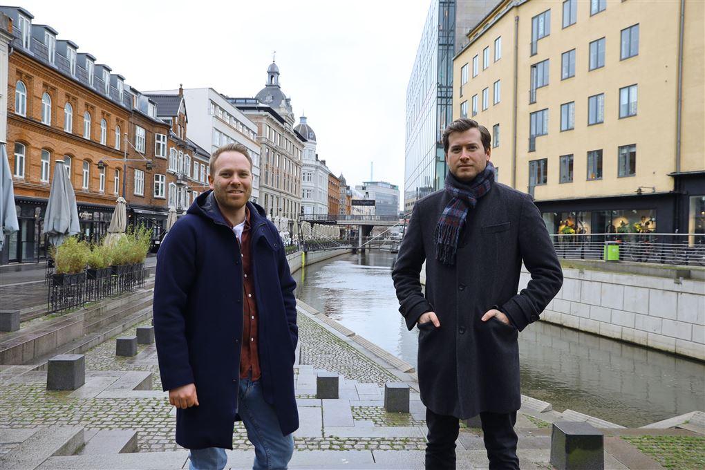 To mænd i Aarhus midtby