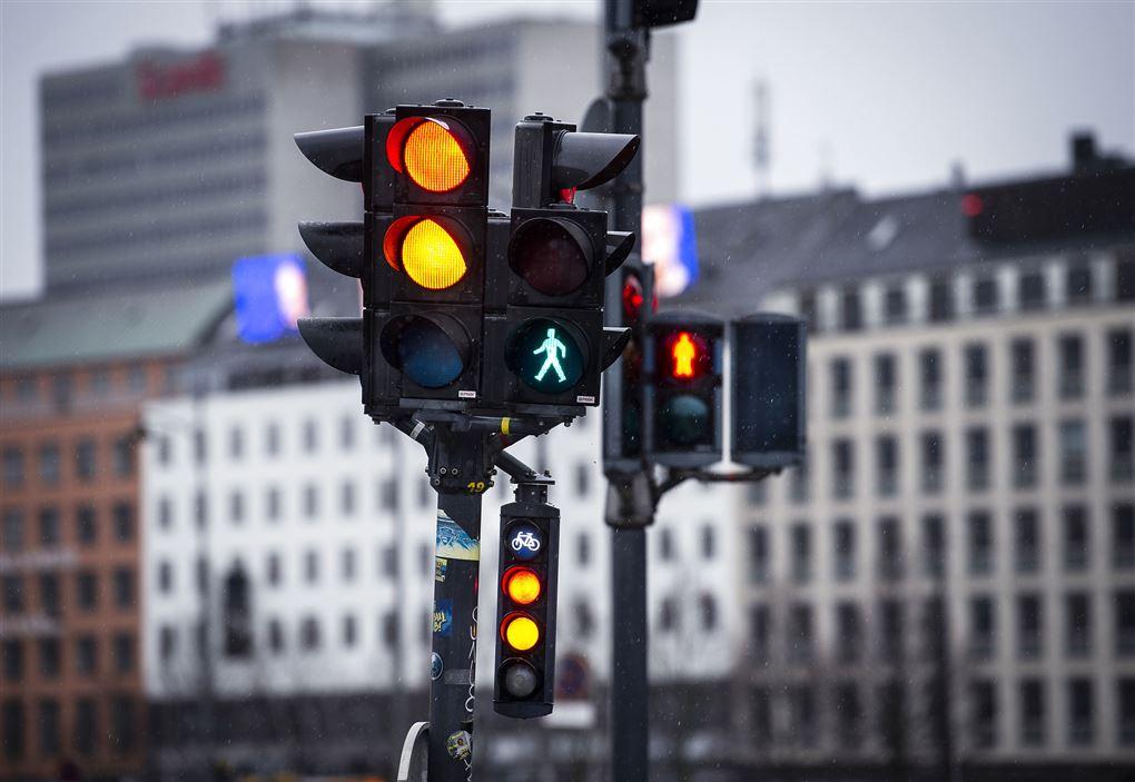 trafiklys i byen