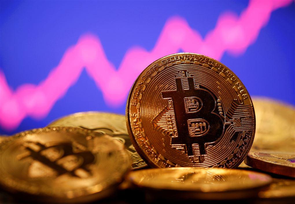 Illustration af bitcoins.