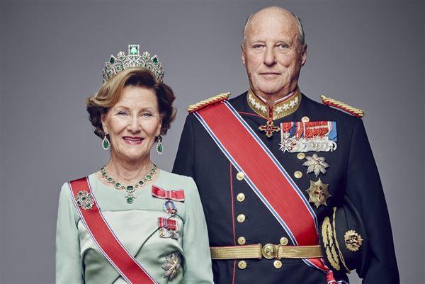 Billede af kong Harald og dronning Sonja