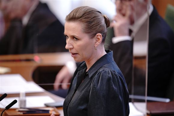 Mette Frederiksen taler