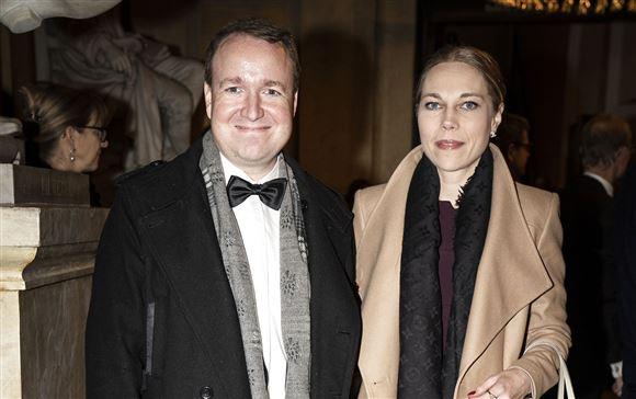 Michael Aastrup Jensen iført butterfly sammen med sin kone