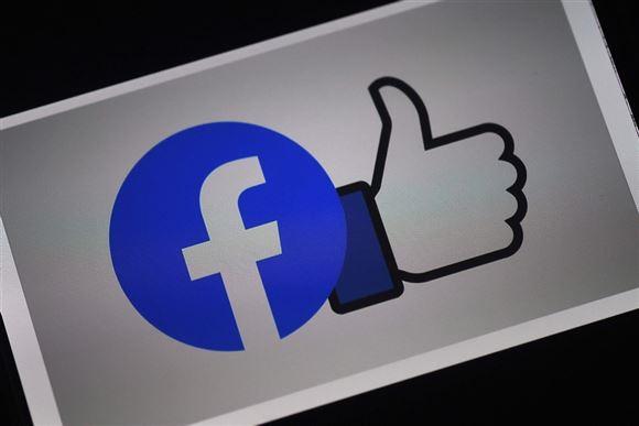 facebook-logo med hånd med tommelfinger op