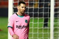 Lionel Messi på træningsbanen.