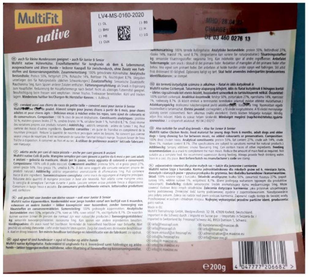 billede af ingredienslisten