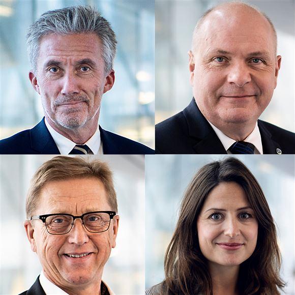 Portrætter af fire Venstre-parlamentarikere