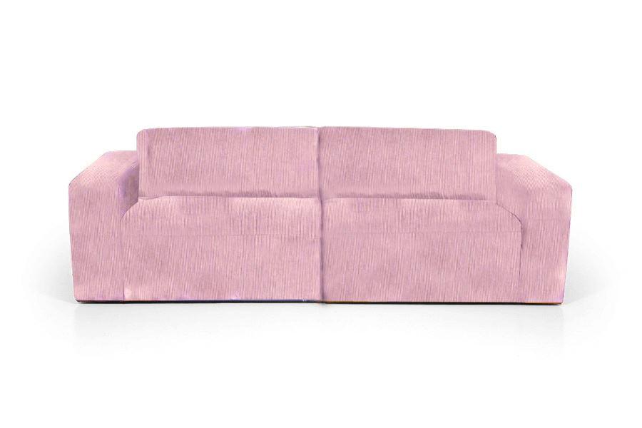 Sofa i lyserødt fløjl