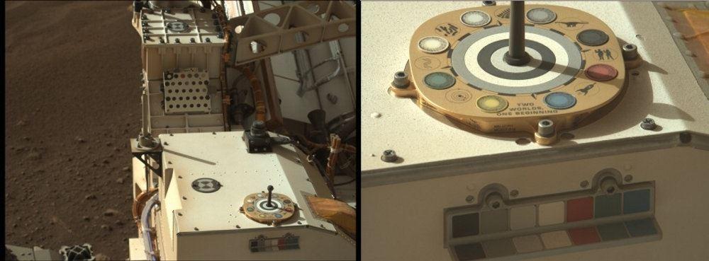 to billeder af interiør i rumkøretøj fotograferet på mars