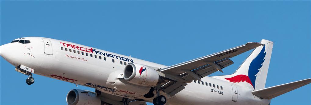 Et passagerfly i luften