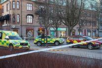 billede af politibiler på gaden