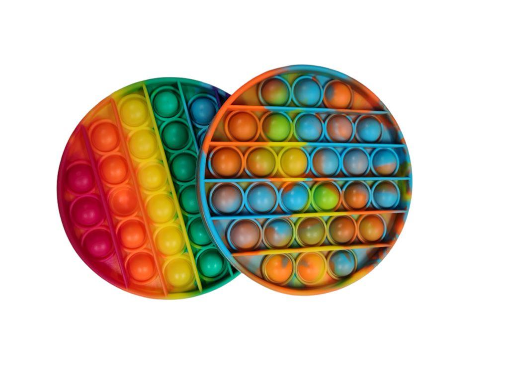 Et fidget toy i mange farver
