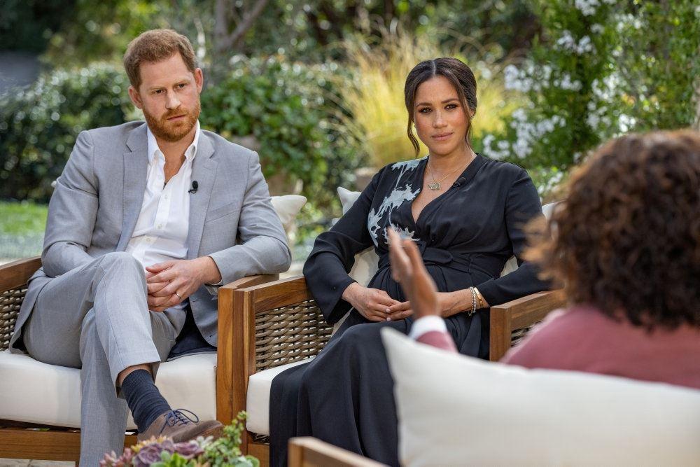 Harry og Meghan med Oprah Winfrey