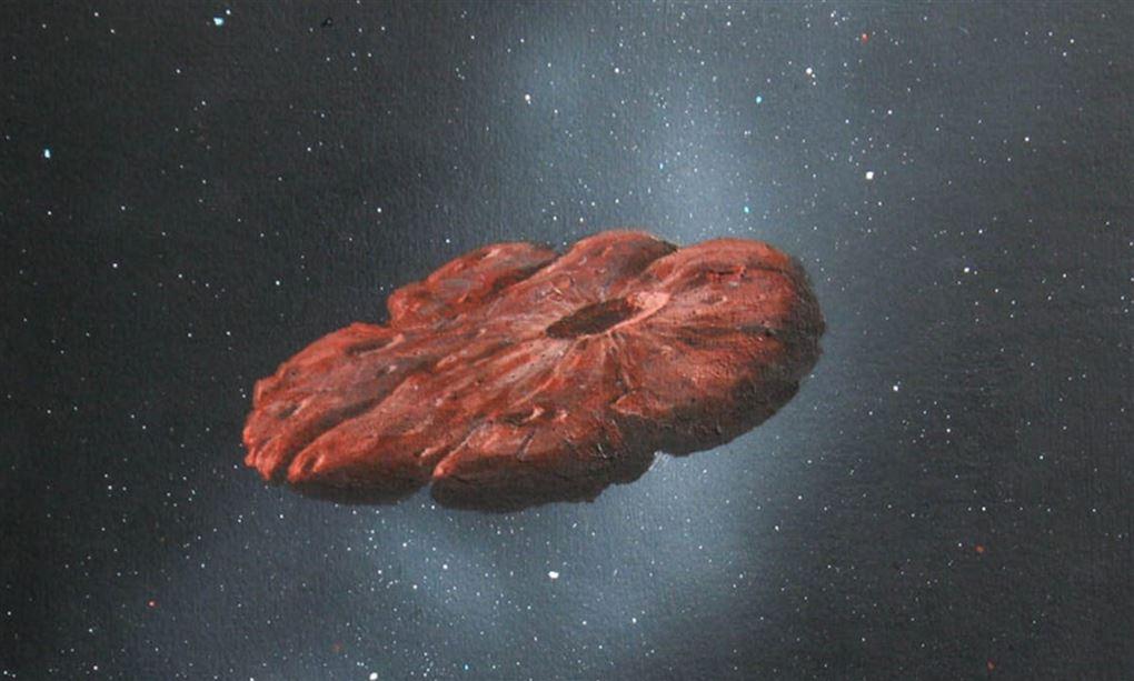 En kæmpe stykke fra en frossen planet suser rundt i universet