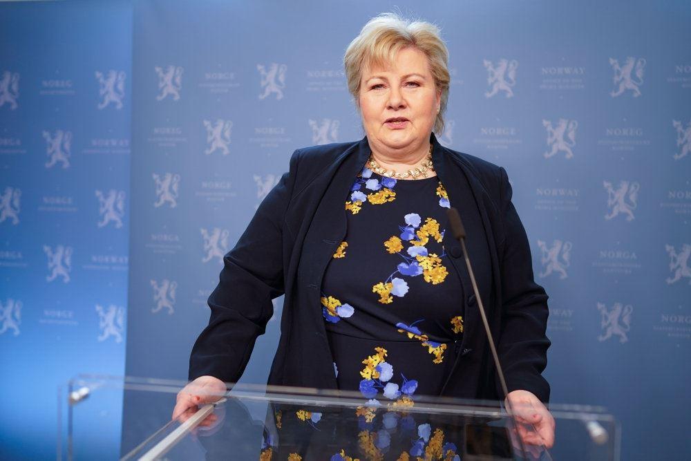 Den norske statsminister Erna Solberg