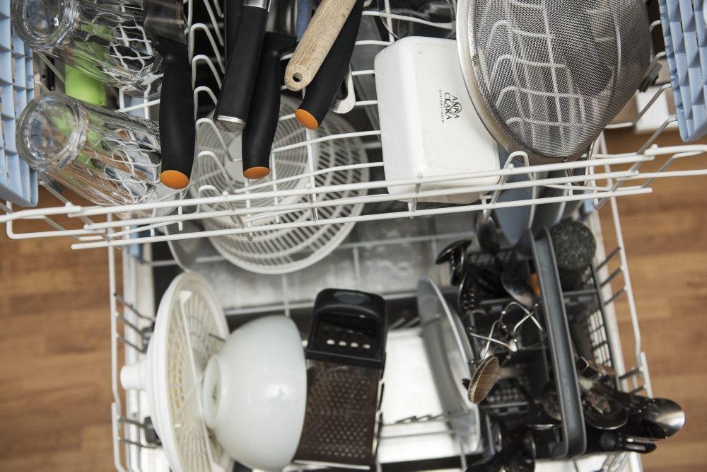 En fyldt opvaskemaskine