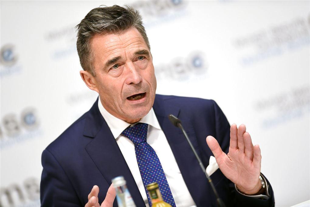 Anders Fogh Rasmussen på pressemøde