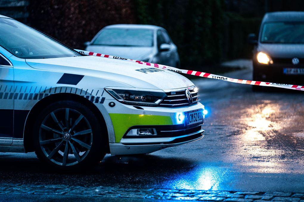 En politibil
