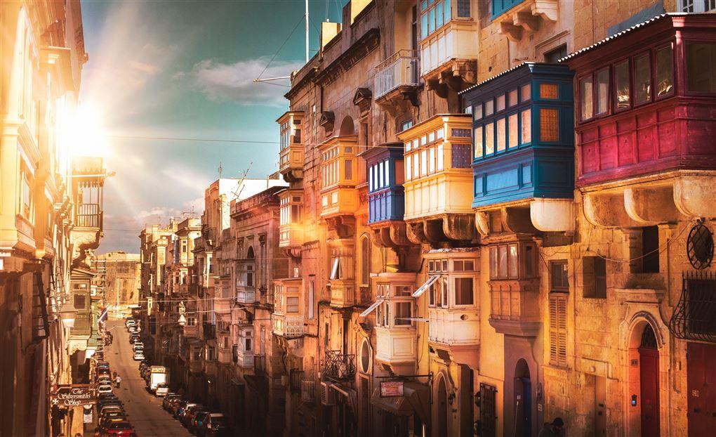 Gadebillede fra Malta