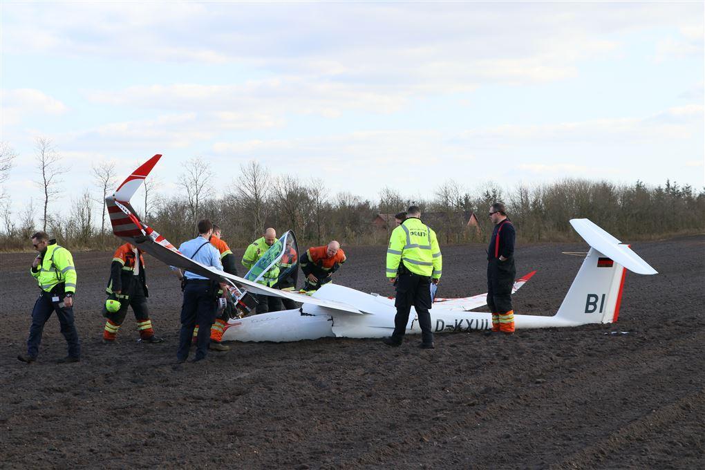 billede af det forulykkede svævefly