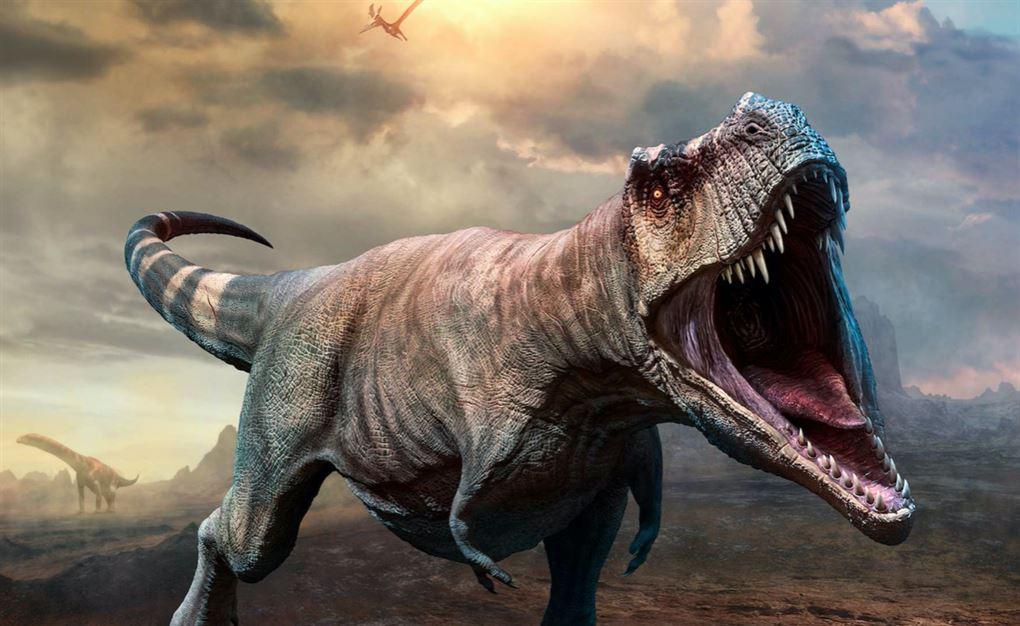 En T-Rex med kæmpe mund