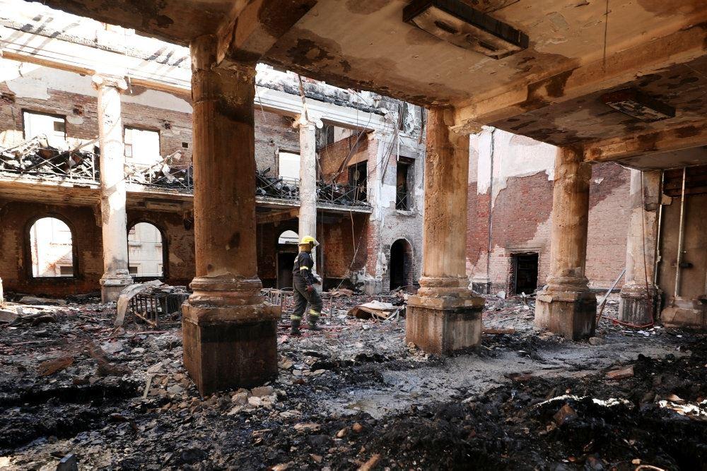 Et udbrændt bibliotek