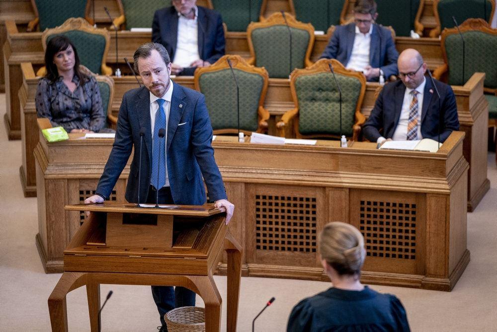 Jakob Ellemann-Jensen i folketingssalen
