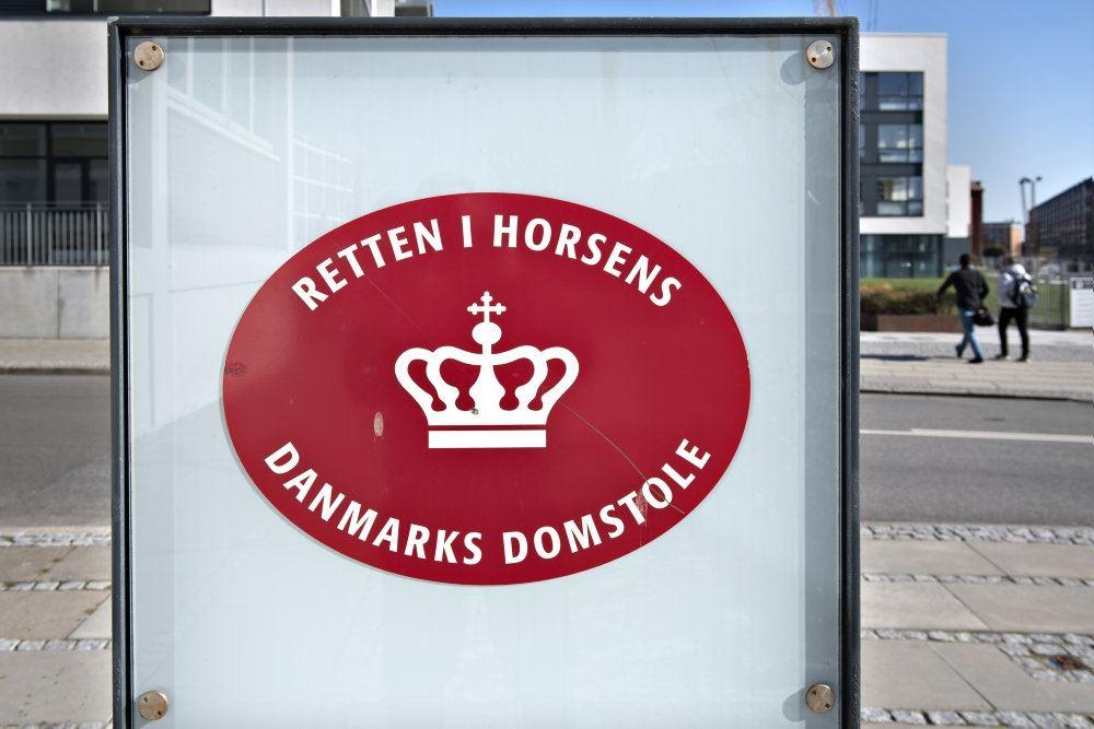 Skilt til Retten i Horsens