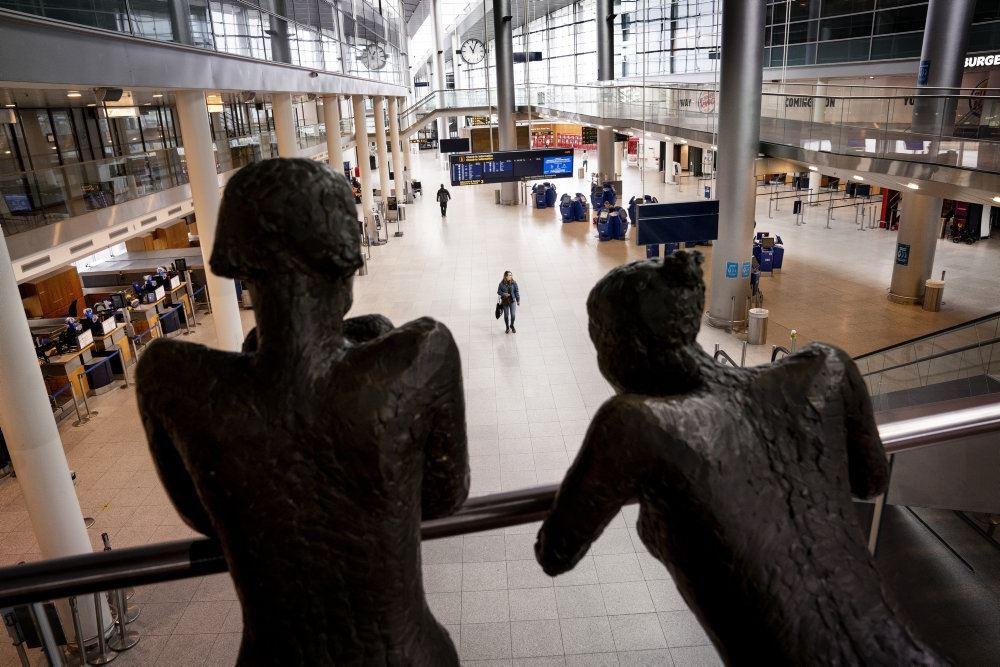 Billede fra afgangshallen i Kastrup Lufthavn