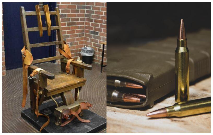 En elektrisk stol og et par riffelkugler