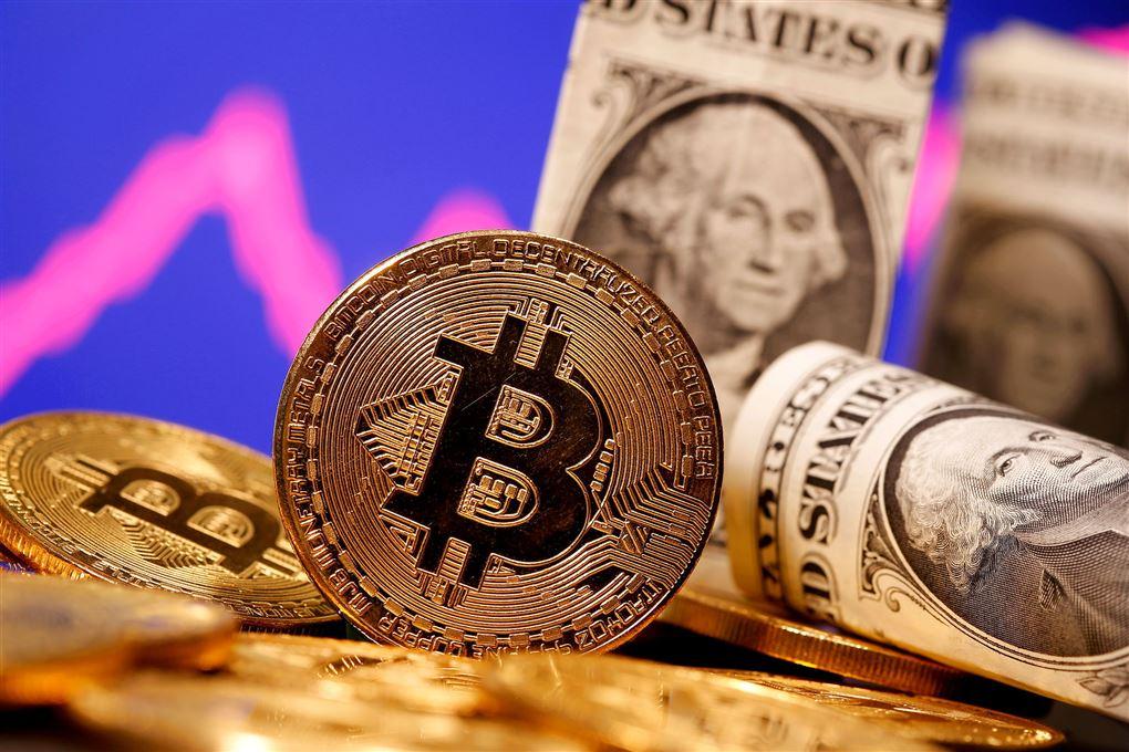 illustrering af bitcoin
