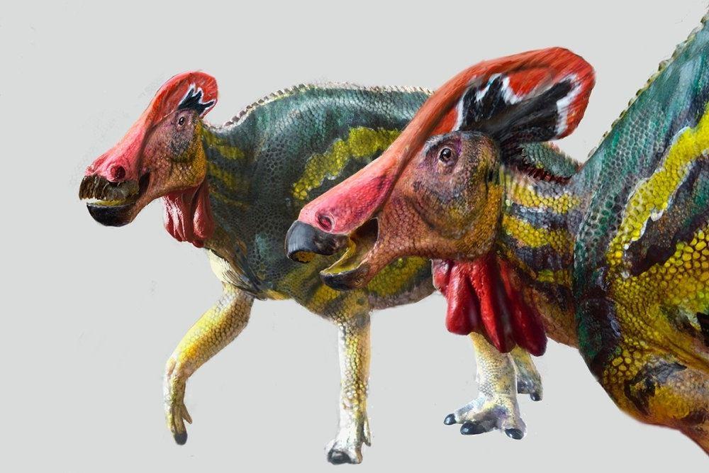 To meget farvestrålende dinosaurer