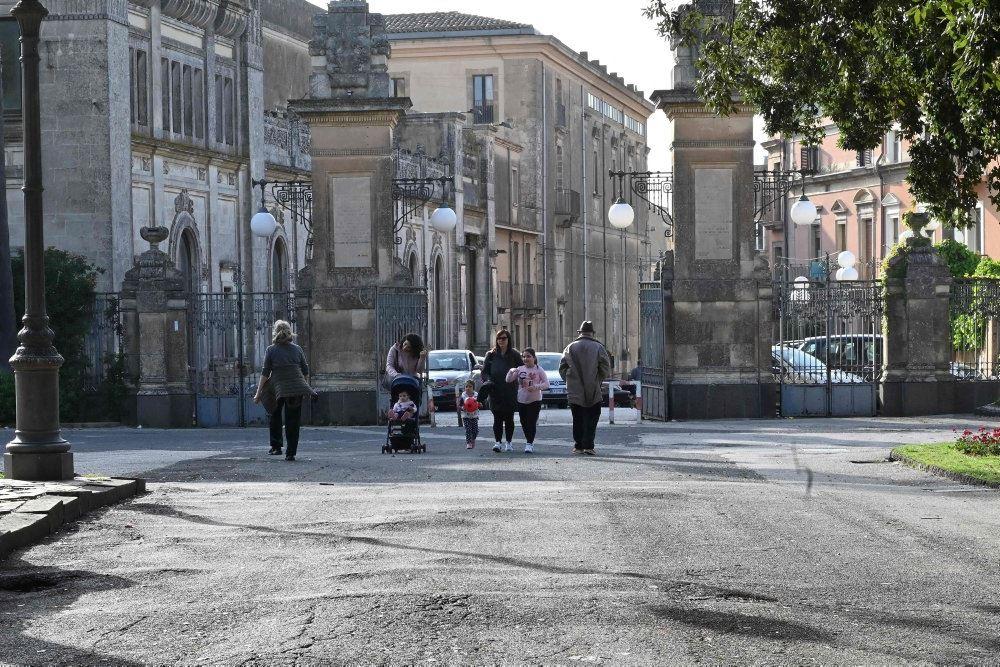 en tom park på Sicilein
