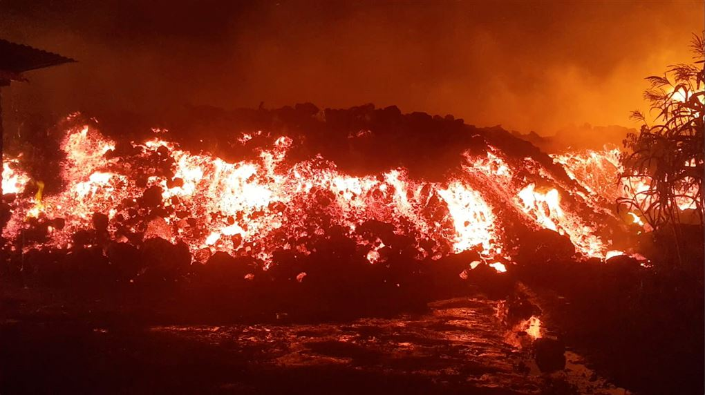 Et bjerg af lava