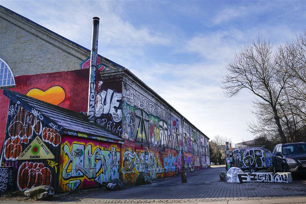 Grafittibygninger på Christiania