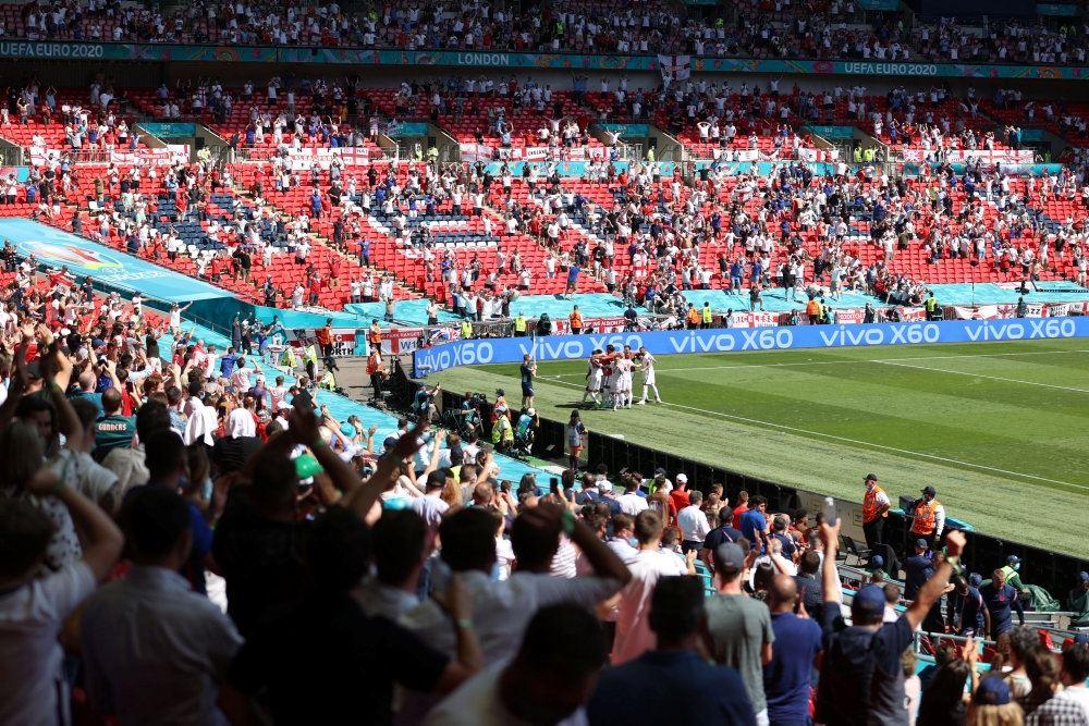Publikum på Wembley stadion
