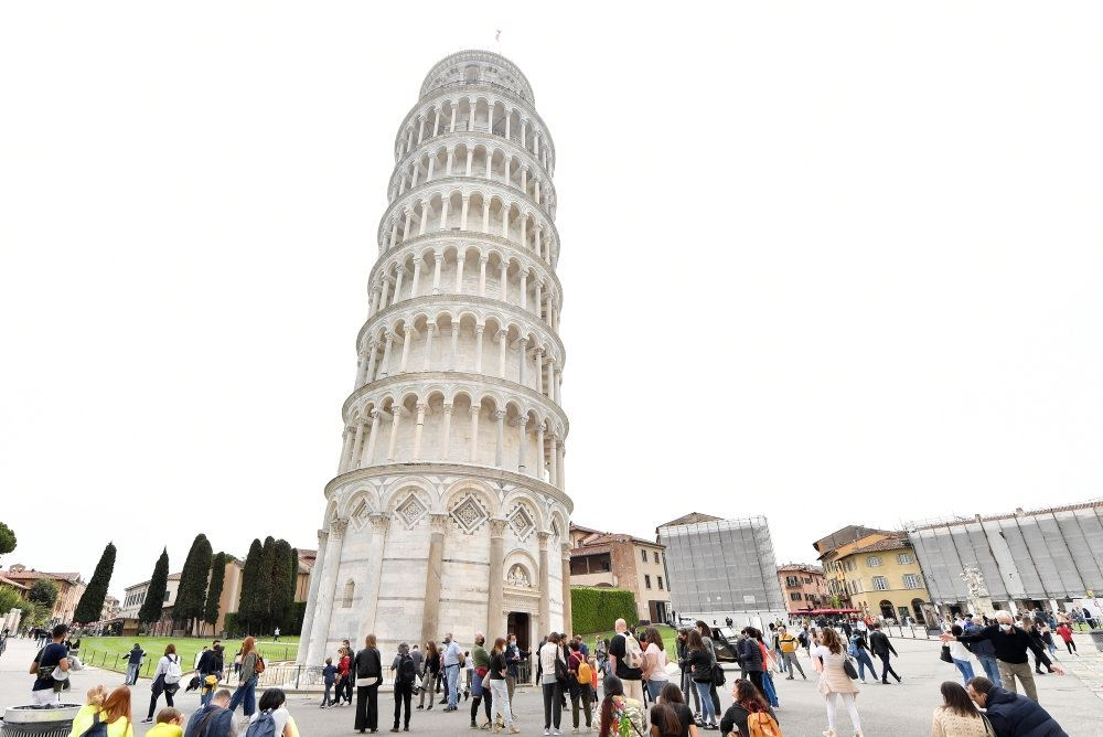 billede af det skæve tårn i pisa