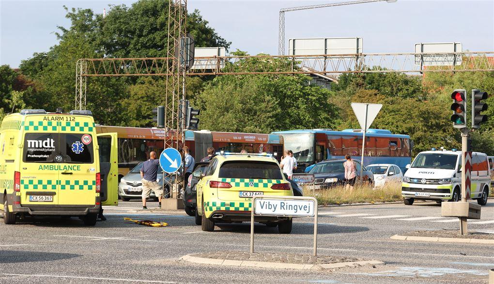 billede fra ulykkesstedet