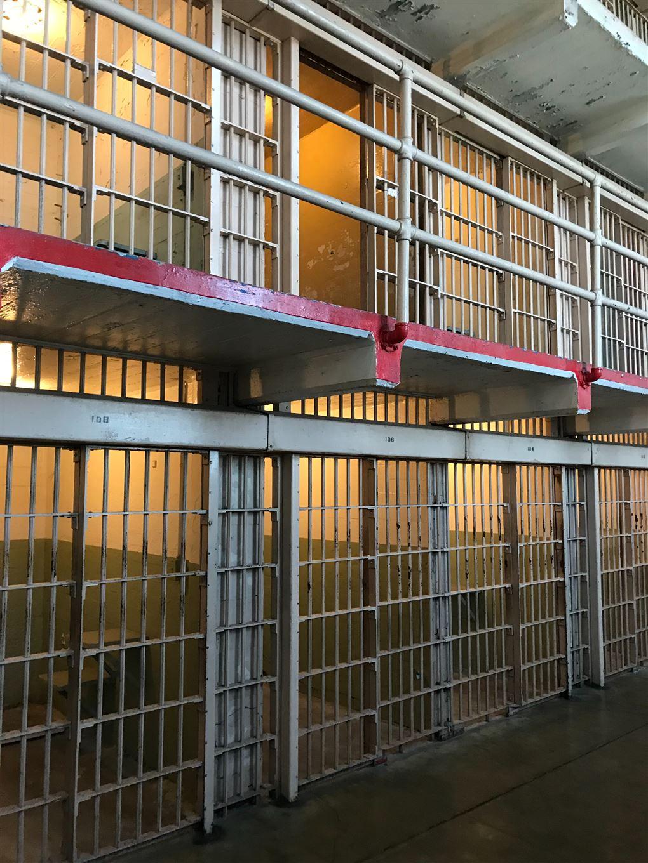 billede af et fængsel indefra