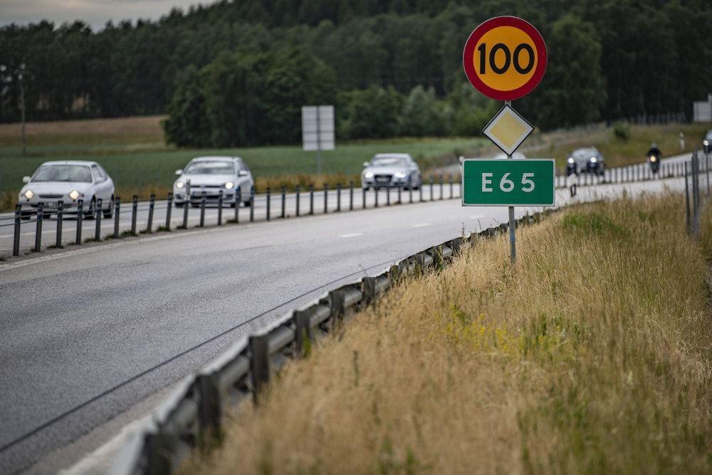 billede fra motorvejen mellem Malmø og Ystad