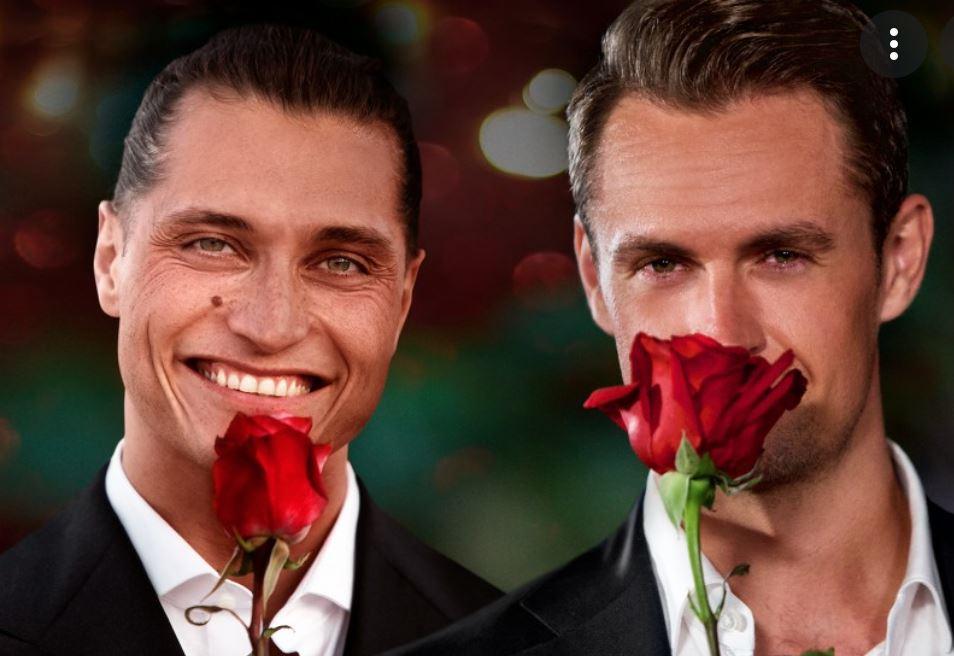 To mænd med en rose